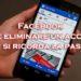 Come eliminare account Facebook se non si ricorda la password