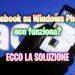 Facebook su Windows Phone non funziona? Ecco la soluzione